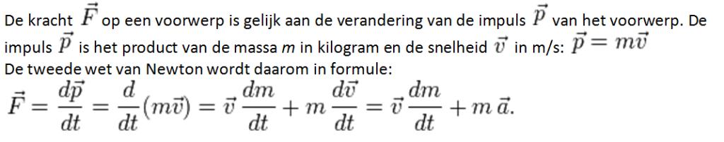 Formule 2e wet van Newton